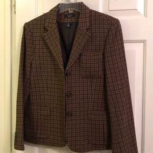 EUC Chaps brown blazer 12